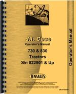 Operators Manual for Case 833 Tractor