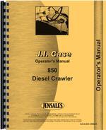 Operators Manual for Case 850 Crawler