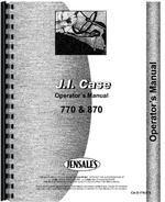 Operators Manual for Case 870 Tractor