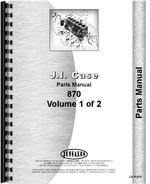 Parts Manual for Case 870 Tractor