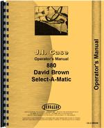 Operators Manual for Case 880 Tractor