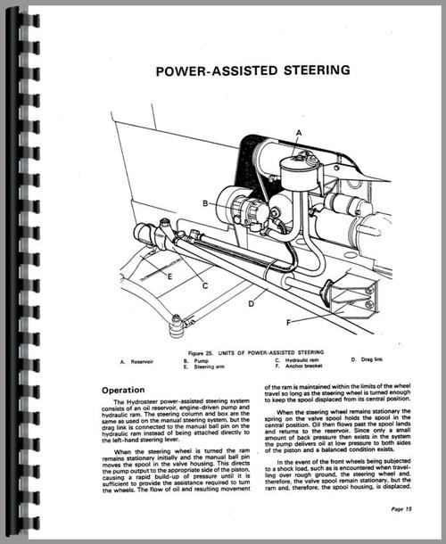 Service Manual for Case 880 Tractor Sample Page From Manual