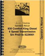 Operators Manual for Case 930 Tractor