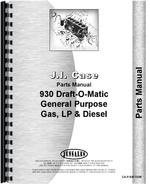 Parts Manual for Case 930 Tractor