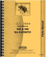 Parts Manual for Case 940 Tractor