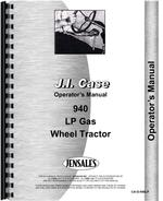 Operators Manual for Case 940 Tractor