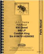 Parts Manual for Case 941 Tractor
