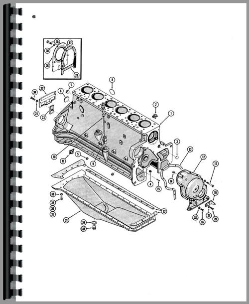 Parts Manual for Case 941 Tractor Sample Page From Manual