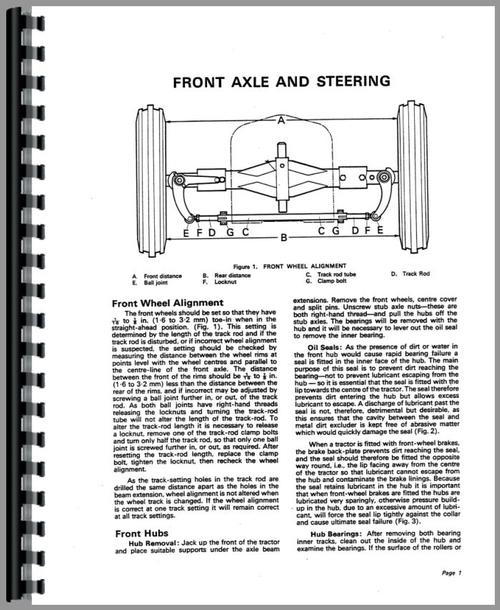 Service Manual for Case 950 Tractor Sample Page From Manual