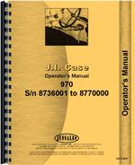 Operators Manual for Case 970 Tractor