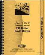 Operators Manual for Case 990 Tractor