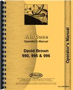 Operators Manual for Case 996 Tractor