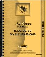 Parts Manual for Case D Tractor