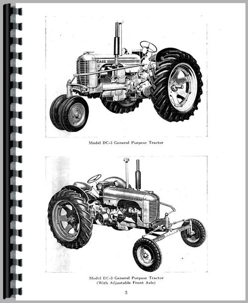 Operators Manual for Case DC4 Tractor Sample Page From Manual