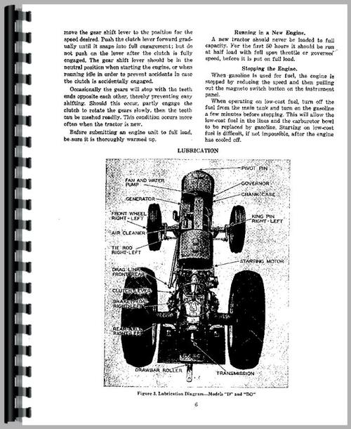 Service Manual for Case DV Tractor Sample Page From Manual