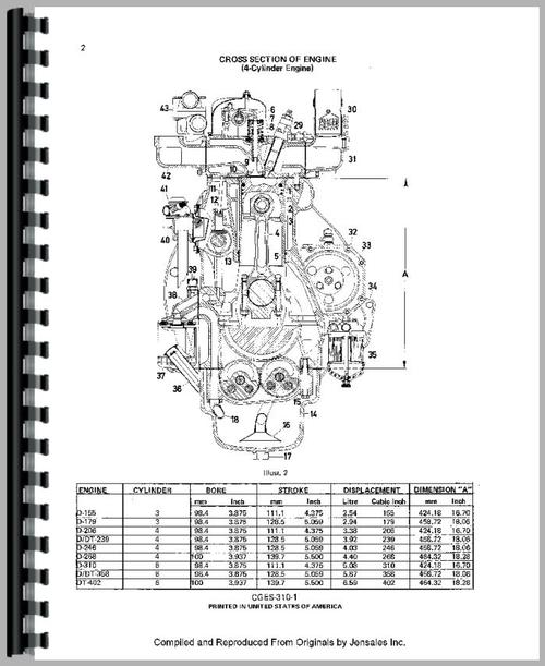 Service Manual for Case-IH 685 Engine Sample Page From Manual