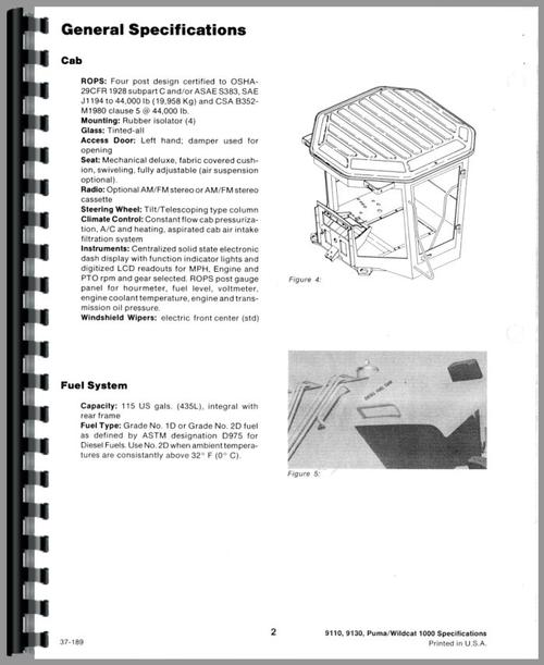 Service Manual for Case-IH 9110 Tractor Sample Page From Manual