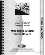 Operators Manual for Case M10 Sickle Bar Mower