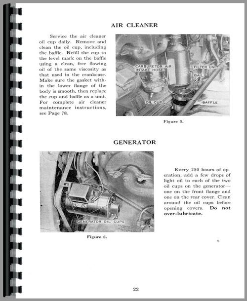 Operators Manual for Case SI Tractor Sample Page From Manual