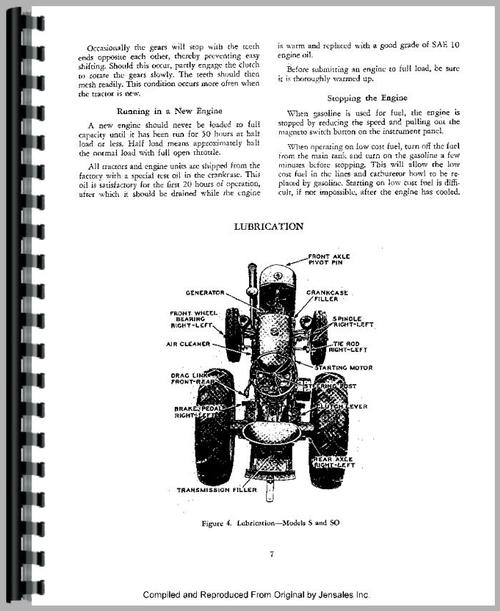 Service Manual for Case SI Tractor Sample Page From Manual