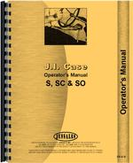 Operators Manual for Case SO Tractor