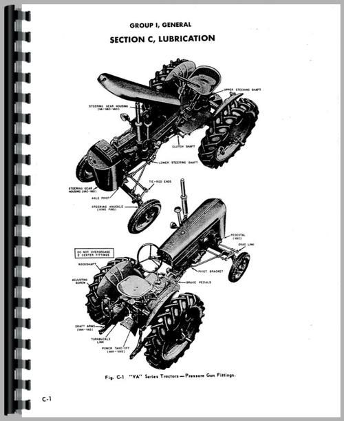 Service Manual for Case VAH Tractor Sample Page From Manual