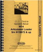 Operators Manual for Case W14 Wheel Loader