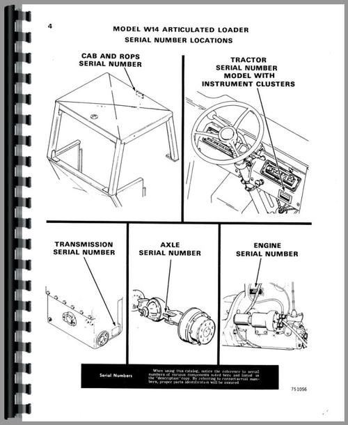 Parts Manual for Case W14 Wheel Loader Sample Page From Manual