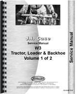 Service Manual for Case W3 Tractor Loader Backhoe
