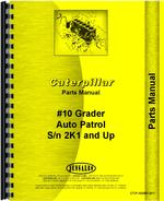 Parts Manual for Caterpillar 10 Grader