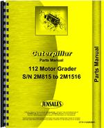Parts Manual for Caterpillar 112 Grader