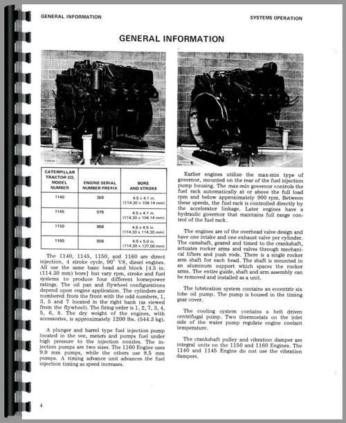 Caterpillar 1150 Engine Service Manual