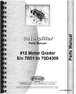 Parts Manual for Caterpillar 12 Grader