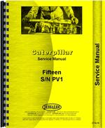Service Manual for Caterpillar 15 Crawler