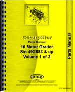 Parts Manual for Caterpillar 16 Grader