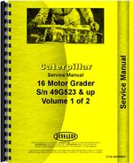 Service Manual for Caterpillar 16 Grader