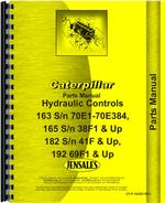 Parts Manual for Caterpillar 163 Hydraulic Control Attachment