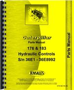 Parts Manual for Caterpillar 183 Hydraulic Control Attachment