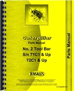 Parts Manual for Caterpillar 2 Tool Bar Attachment