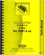 Parts Manual for Caterpillar 2-Ton Crawler