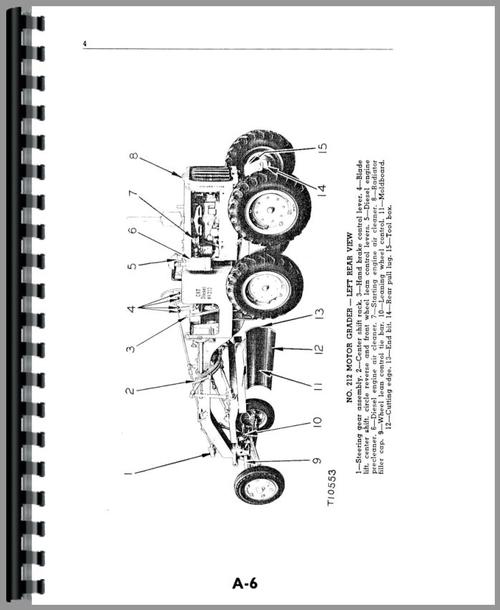 Operators Manual for Caterpillar 212 Grader Sample Page From Manual