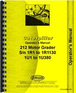 Operators Manual for Caterpillar 212 Grader