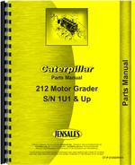 Parts Manual for Caterpillar 212 Grader