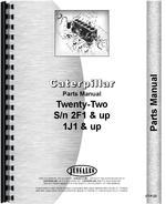 Parts Manual for Caterpillar 22 Crawler