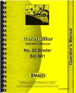 Operators Manual for Caterpillar 22 Grader