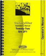 Operators Manual for Caterpillar 22 Crawler