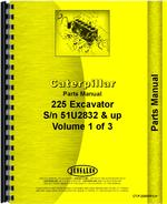 Parts Manual for Caterpillar 225 Excavator