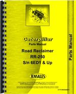 Parts Manual for Caterpillar 250 Road Reclaimer