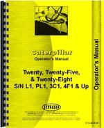 Operators Manual for Caterpillar 28 Crawler