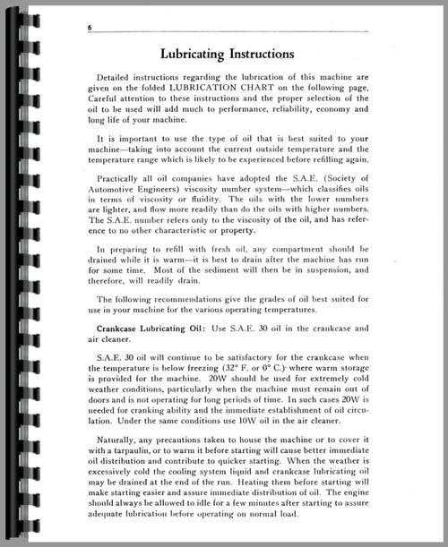 Operators Manual for Caterpillar 28 Crawler Sample Page From Manual